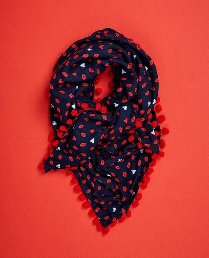 Nachtblauwe viscose sjaal